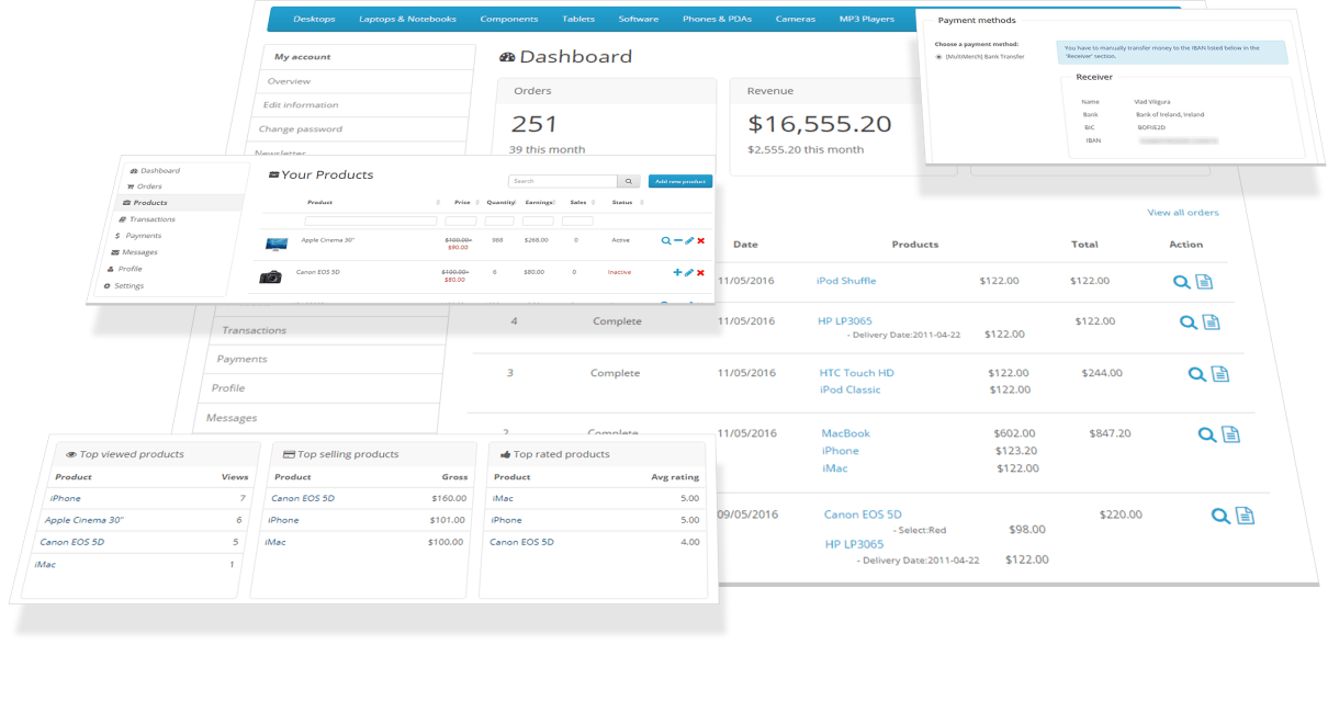 multimerch features for your vendors