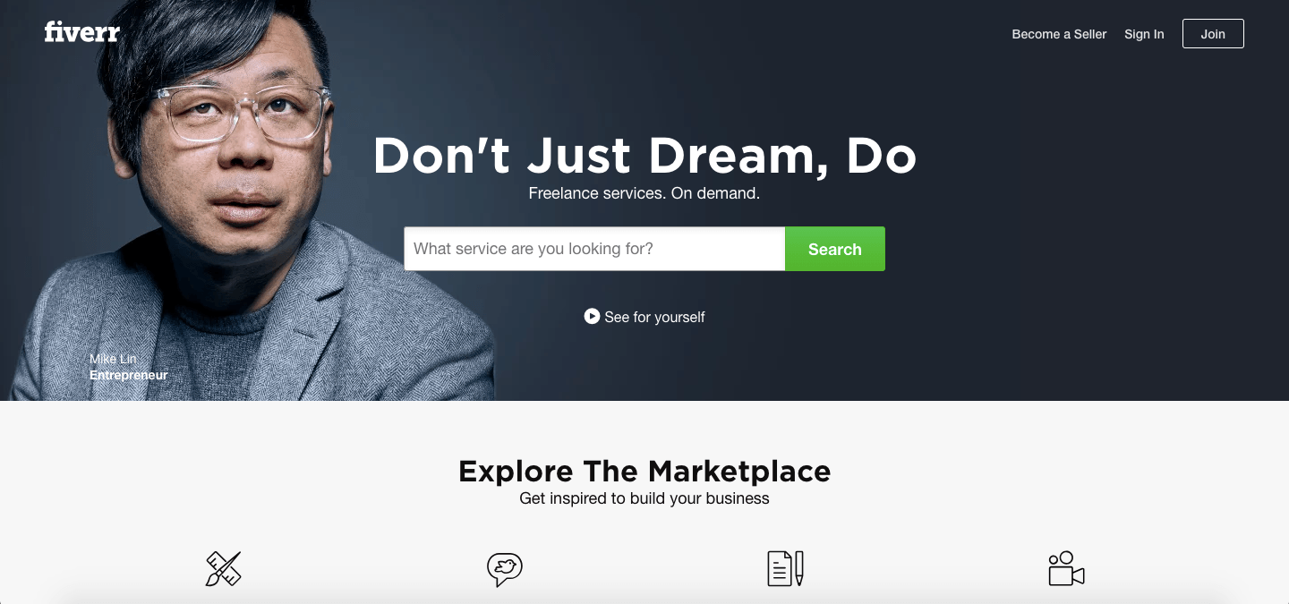 fiverr digital marketplace