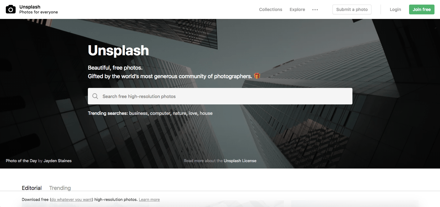 unsplash marketplace