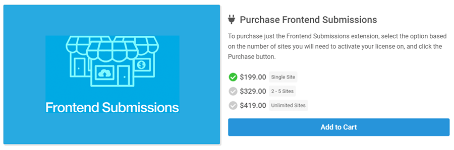 multi vendor easy digital downloads frontend submissions pricing