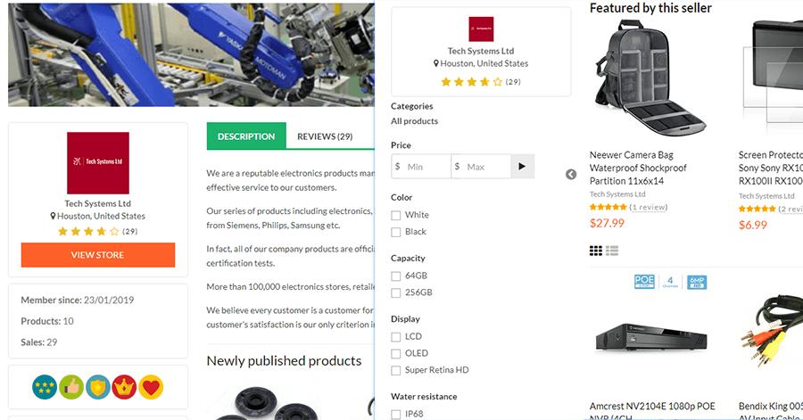 multimerch seller system vendor stores profiles