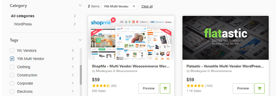 woocommerce multi vendor yith themes