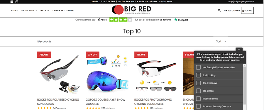 make your marketplace stand out big red